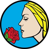 GIRL WITH ROSE FLOWER VECTOR.eps