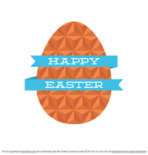 Free Flat Geometric Easter Egg