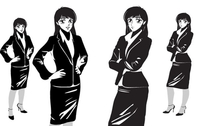 MANGA NOIR FEMALE - OFFICE