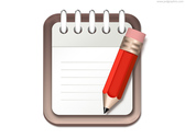 Notepad and pencil icon (PSD)