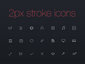 21 Thinicons 2px Stroke Icons Set