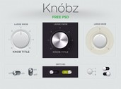 Awesome Web UI Knobs & Switches Kit PSD