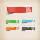 5 Colorful Folded Taped Ribbon Elements