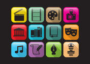 Flat Arts And Culture Vector Icons