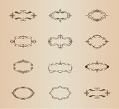 Retro Ornamental Frames Vector Set