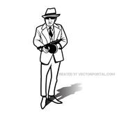 VECTOR IMAGE OF A GANGSTER.eps