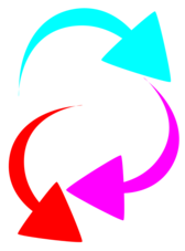 curved color arrows