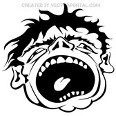 SCREAM FREE VECTOR.eps