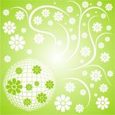 GREEN FLORAL PATTERN BACKGROUND.eps