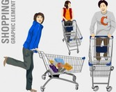 Stock Vector : illustration of people shopping