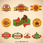 Pizzeria vintage badges collection