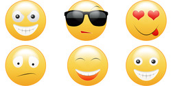 6 Smiley Faces