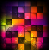 Colorful 3D Tilled Background with Swirling Hearts
