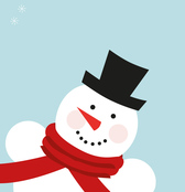 Vector Snowman Illustration