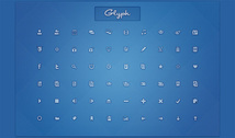 60 Ultra Mini Glyph Icons Pack PSD