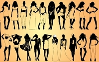 Girls Model Pack Silhouette