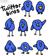 8 Cute & Simple Twitter Bird Graphics