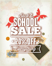 Poster vector material exquisite school season