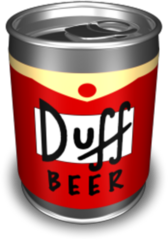 DUFF BEER THE SIMPSONS PSD