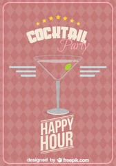 Cocktail glass vector free