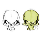TWO MAD SKULLS VECTOR.eps