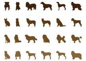 Dog Silhouettes Set