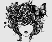 Stock Illustrations: Beautyful vector girl