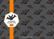 Free Cartoon Flying Fox Vector Pattern