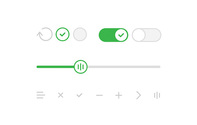 Simple iOS7-style UI Control Elements Kit