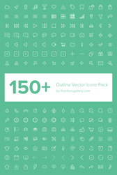 150 + Outline Vector Icons Pack