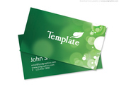 Eco friendly design, business card template