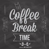 Coffee break blackboard design