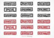 Free Vector Grunge Rubber Stamps