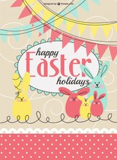 Easter party invitation template