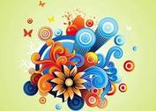 Colorful Flowers Graphics