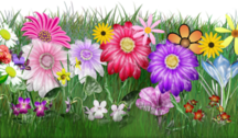 flowers & grass PSD