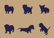 Free Vector Puppy Silhouettes