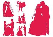 Married Couples Silhouettes