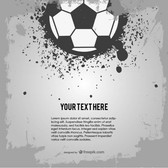 Soccer ball grunge design