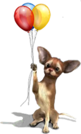 (Dog With Balloons)
