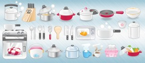 Clean Set of Vector Kitchen Icons