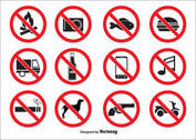 Prohibited Vector Icons