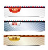 Free vector about vector promotional web banners