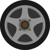 Simple Car Wheel/Tire Side View