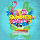 Summer background free poster template