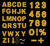 Sparkling Diamond Letters And Numbers