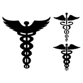 Vector Caduceus signs