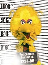 big bird mugshot PSD