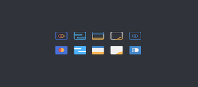 10 Credit Card Payment Icons Set