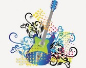 Éléments de stock Illustrations guitare-musique